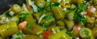 Deliciosa receita de salada de quiabo