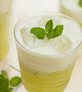 Suco de Abacaxi com Hortelã